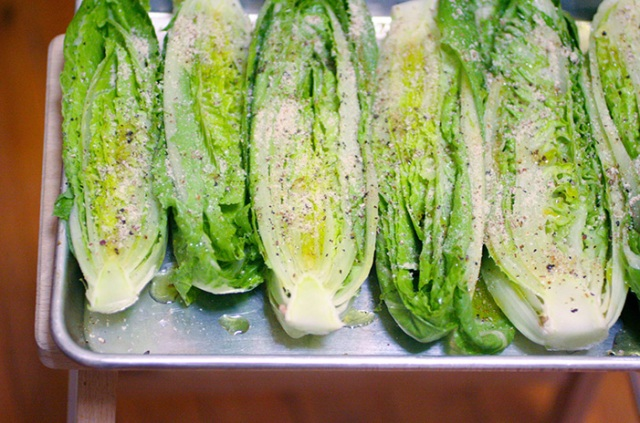 Ashley Mason | Roasted Romaine Greens Recipe in Pan