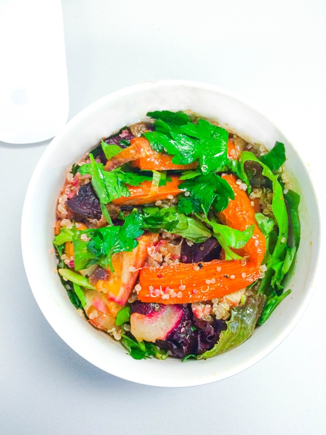 Ashley Mason | Lunch Bowl with Roasted Vegetables and Greens