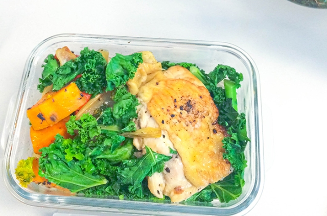 Ashley Mason | Leftover Chicken Kale and Sweet Potatoes