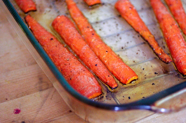 Ashley Mason | Roasted Carrots in Pan Romesco Recipe Eating with Food Allergies