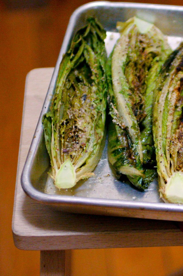 Ashley Mason | Roasted Romaine Greens Recipe Almond Flour