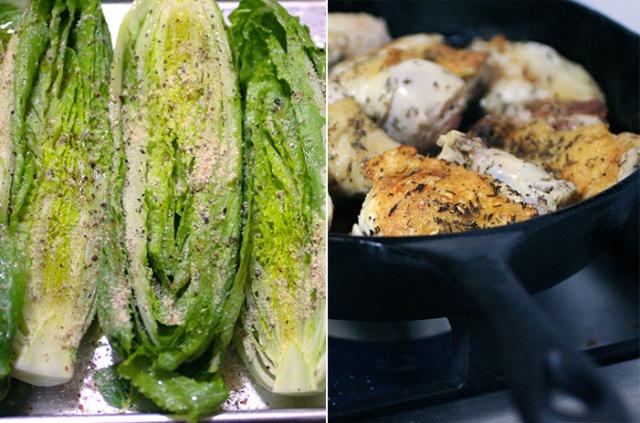 Ashley Mason | Roasted Romaine Pan Roasted Chicken