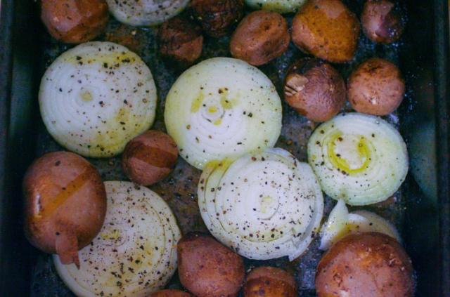 Ashley Mason | Saving Money Healthy Eating Seasoned Onions and Mushrooms