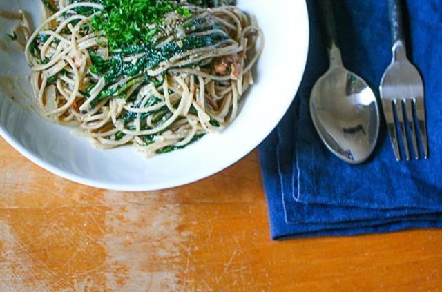 Ashley Mason | Cooking with Weeds Dandelion Pasta Recipe
